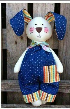 Felt Crafts, Easter Crafts, Diy Crafts, Doll Patterns, Sewing Patterns, Rabbit Crafts, Baby Sewing Projects, Fabric Toys, Bunny Plush