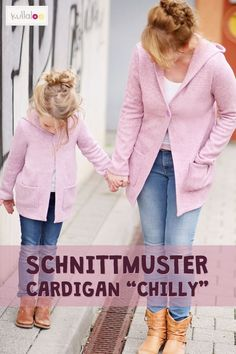 """Strickjacke Schnittmuster """"CHILLY"""" für Kinder Cardigan sewing pattern """"CHILLY"""" for children pattern # cardigan Baby Cardigan, Cardigan Pattern, Crochet Cardigan, Sewing Hacks, Sewing Tutorials, Sewing Tips, Tricot Simple, Leftover Fabric, Love Sewing"""