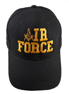 Air Force Black Masonic Baseball Cap Mason Logo Hat for Freemasons Shriners  Prince Hall Masons Headwear 8a628cfdbe40