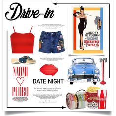 How To Wear Date Night. .. Drive In Outfit Idea 2017 - Fashion Trends Ready To Wear For Plus Size, Curvy Women Over 20, 30, 40, 50