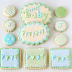Baby Shower Cookie Decorating {Tutorial}