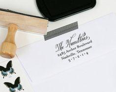 Adresse de l'expéditeur personnalisé timbre par jambercreative