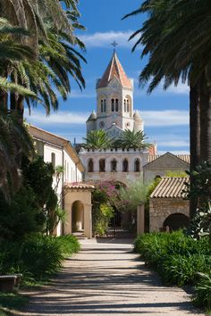 A monastery on Iles de Lérins outside Cannes in France