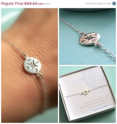 SALEFREE SHIPPING Compass Bracelet North Star by ShopSomethingBlue