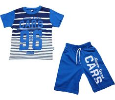 694 Cars 96 printed t-shirt and short set for boy children clothes age) T Shirt And Shorts, Kids Shorts, Super Sport, Children Clothes, Kids Clothing, Wholesale Baby Clothes, Perfect Model, Short Set, Stripes Design