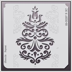 - All Over Repeats Stencils - Wallpaper Stencils - Stencil Pattern Stencils, Damask Stencil, Stencil Templates, Stencil Patterns, Stencil Art, Stencil Designs, Damask Patterns, Kirigami, Bordados Tambour