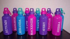 Rock Climbing, Zip Lining, Adventure Course, Sports Water Bottle with Clip, Personalized Party Favor, by creationsabc on Etsy