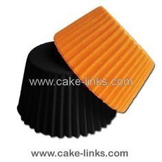 Muffin cases - pack of 100 (50 orange and 50 black)