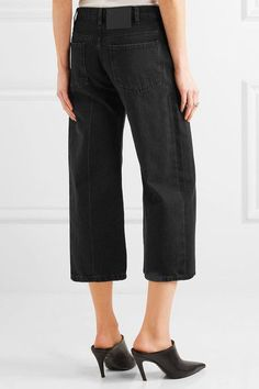 Balenciaga - Rockabilly Cropped High-rise Wide-leg Jeans - Charcoal - FR36