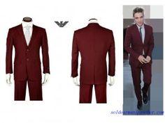 Costume Armani Collezioni Homme deux Boutons Pas Chere Vin rouge Slim Fit Tuxedo, Tuxedo Suit, Costume Armani, Armani Men, Dress Suits, Men's Suits, Western Outfits, Jackets Online, Men Looks