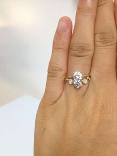 This WWAKE #CustomEngagementRing is a brilliant beauty!