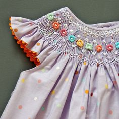 coquito smocked baby dress - serpentina