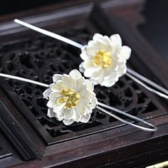 S925 Sliver Lotus Earring by VinsterFashion on Opensky