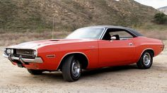 Dodge Challenger muscle car red