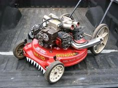 Modified monster push mower. Share photos of your projects with us: http://www.facebook.com/smallengineparts