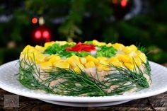 Salata de ton cu fasole rosie - CAIETUL CU RETETE Cobb Salad, Food And Drink, Cooking, Bacon, Recipes, Cucina, Kochen, Rezepte, Cuisine