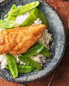 Easy Sweet-As-Honey Chicken with Snow Peas over Jasmine Rice | More chicken recipes on hellofresh.com