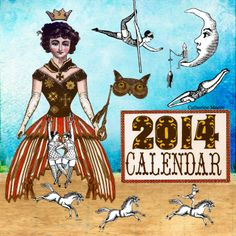Character Constructions 2014 Calendar Collaborative, cover by Catherine Moore