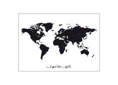 Miniwilla The World Poster | Scandinavian Minimall