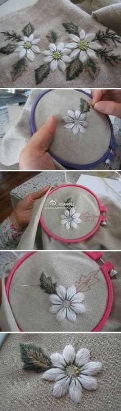 bordado -# embroidery #stitches #@Afs 23/4/13