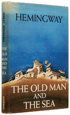 Ernest Hemingway 'The Old Man and the Sea' 52'    Charles Scribner's Sons (1952) - saw a copy of this in Spanish at the bookstore in town... Had to come home and look up what 'viejo' was. :) it's on my reading list now.