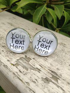 Personalized Cuff links Custom Cufflinks by OverTheMoonBridal