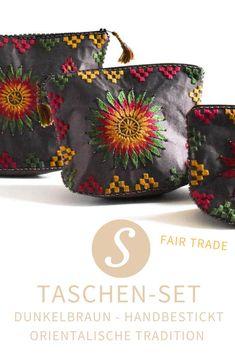 Bestickte Tasche Geldbörse Handarbeit Geldbeutel Mini Tasche Orientalisch Etui