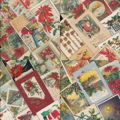 ~Nice Lot of 73 ANTIQUE EARLY 1900s * CHRISTMAS POSTCARDS~9 SANTA's* -a814 #Christmas