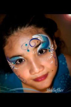 Ocean waves pixie eyes face paint