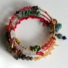 Gemstone Bracelet, Citrine Bracelet, Memory Wire, Wrap Bracelet, Boho Jewelry