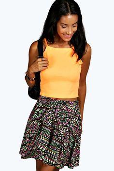 Olivia Aztec Skater Skirt