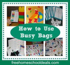 How to Use Busy Bags in #Homeschool Great #preschool ideas!