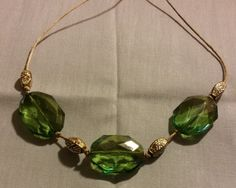 Emerald Green with gold accents