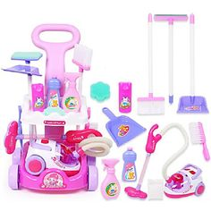 The information below will teach you how to bring home the best toys and get them at a great price. Little Girl Toys, Toys For Girls, Baby Dolls, Makeup Kit For Kids, Disney Princess Toys, Minnie Mouse Toys, Cleaning Toys, Cleaning Cart, Play Kitchens