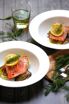 Salmon with Dill and Sauteed Fennel Recipe + Yummy Supper Cookbook Giveaway - SheEats.ca