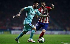 Download wallpapers Messi, Yannick Carrasco, Barcelona, match, La Liga, Spain, Barca, Lionel Messi, FC Barcelona, Leo Messi