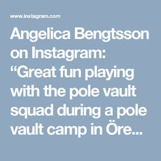 "Angelica Bengtsson on Instagram: ""Great fun playing with the pole vault squad during a pole vault camp in Örebro this weekend 😄 #polevault #sweden #teamsweden #nike"""