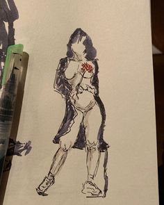 "Joy Liu on Instagram: ""🌷🌷🌷🌷 🖍🖍🖍🖍🖍 #lifedrawing #waterbrushpen #waterbrush #dailysketch #asadclaw #ink #redandgreen #figuredrawing #art #monday#sketchbook #sketch…"" Water Brush Pen, Life Drawing, Interesting Stuff, Sketch, Joy, Instagram, Sketch Drawing, Glee, Sketches"
