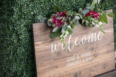 Say hello to your guests and have a lovely memento afterwards. Wood Wedding Signs, Wedding Welcome Signs, Spring Wedding Inspiration, Sweet Couple, Wedding Locations, Celebrity Weddings, Palm Springs, Luxury Wedding, Getting Married