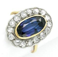 Foto 1, ANTIKER Diamant-Ring RIESEN-GROSS 14K Luxus! Neuwertig!, S7395