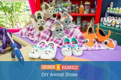 DIY Animal Shoes -  Send your little ones off to school in style w/ this animal shoe DIY from @tmemme28! Catch Home and Family weekdays at 10/9c on Hallmark Channel.