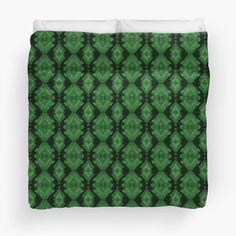 Green Diamonds Mosaic Tiles Pattern