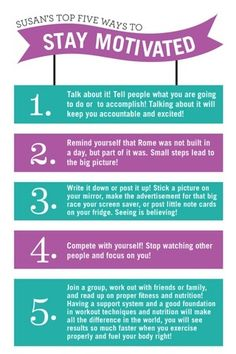 Five ways to stay motivated | REPINNED
