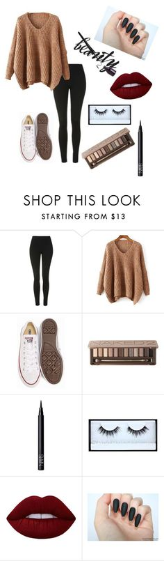 """beauty to go...""  ❤ liked on Polyvore featuring beauty, Topshop, Converse, Urban Decay, NARS Cosmetics, Huda Beauty and Lime Crime"