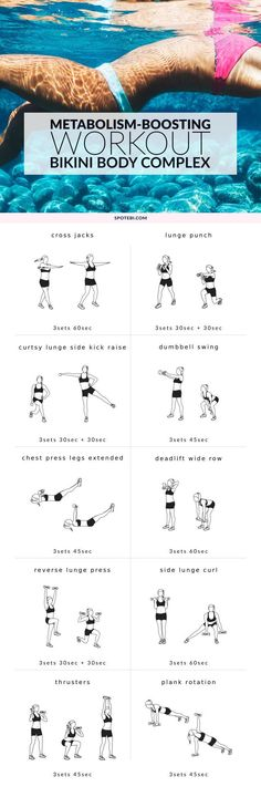 Tone your body from head to toe and get ready for bikini season with this full body workout for women. Grab a set of dumbbells, turn on the music and build metabolism-boosting muscles, while sculpting your entire body! http://www.spotebi.com/workout-routines/full-body-workout-for-women-metabolism-boosting-routine/