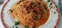 Un #piatto di #mare in cui il #sapore delle cozze viene messo in risalto dal sugo di pomodoro