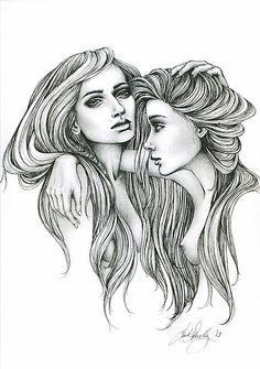 "Black Art Gemini | ... › Portfolio › Black and White Illustration Print ""Gemini Mind"