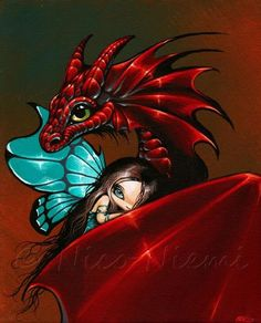 Artist's Portfolio of Nico Niemi - Thumbnails for art in gallery 'Magical Companions' - Page 4 Fairy Pictures, Dragon Pictures, Fantasy Pictures, Gothic Fantasy Art, Fantasy Dragon, Gothic Fairy, Beautiful Dragon, Beautiful Fairies, Magical Creatures