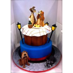 Incredible Disney Themed Desserts: Lady & the Tramp Cake - ChaCha