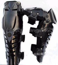 Pair of Motor Racing Protective Motorcycle Knee Pads Black Leg Rugged. Protective gear - knee - mechanical legs, joint activities, and comprehensive coverage to protect. 1 X A Pair of Black Motor protective Gears. Tactical Armor, Tac Gear, Tactical Clothing, Armor Concept, Cool Gear, Deathstroke, Riding Gear, Motorcycle Gear, Motorcycle Touring